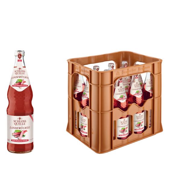 Schloss Quelle Landfrüchte Apfel-Rhabarber-Schorle 12 x 0,7l