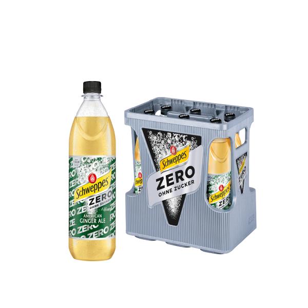 Schweppes Ginger Ale Zero 6 x 1,0l