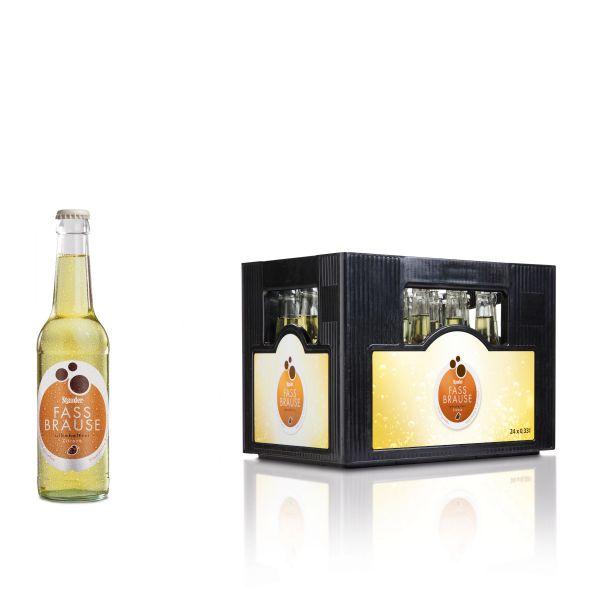Stauder Fassbrause Zitrone 24 x 0,33l Glas Kiste MEHRWEG