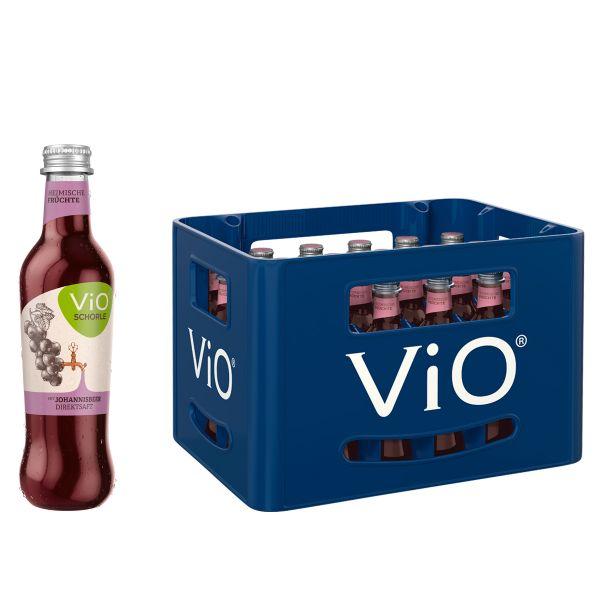 ViO Schorle Johannisbeere 24 x 0,3l Glas Kiste MEHRWEG
