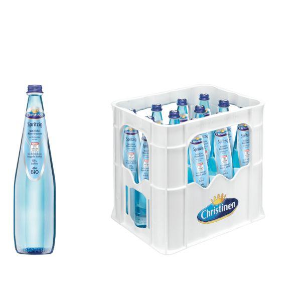 Christinen BIO Spritzig 12 x 0,75l Glas Kiste MEHRWEG