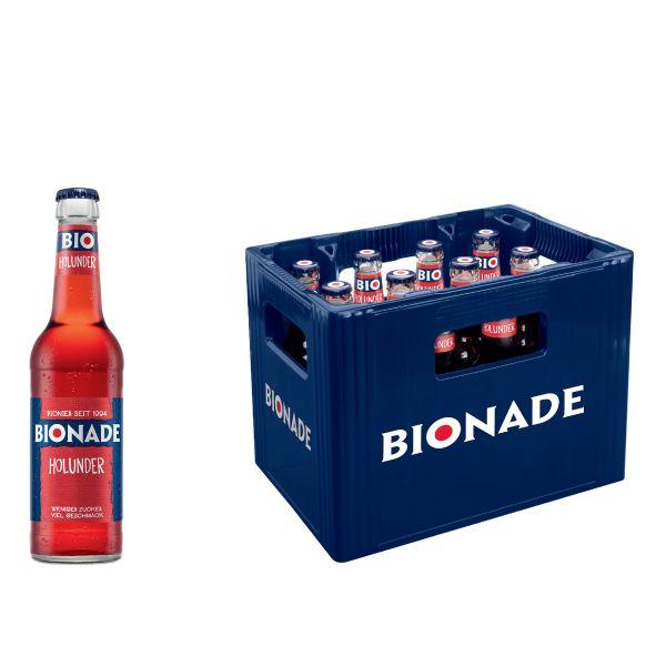 BIONADE Holunder 12 x 0,33l Glas Kiste MEHRWEG