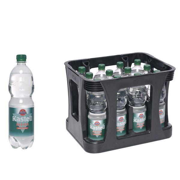 Kastell Medium 12 x 1,0l PET-C Kiste EINWEG