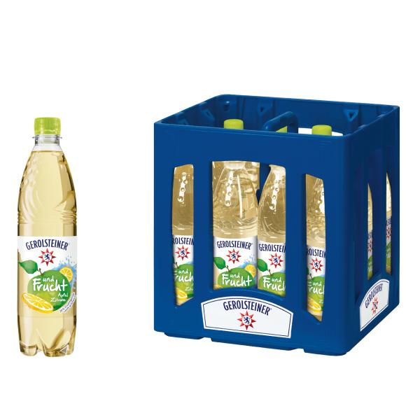 Gerolsteiner und Frucht Apfel - Zitrone 12 x 0,75l