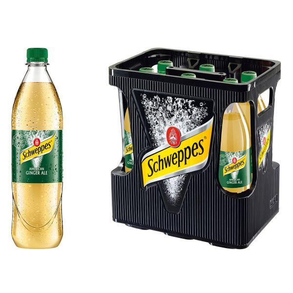 Schweppes Ginger Ale 6 x 1,0l PET Kiste MEHRWEG