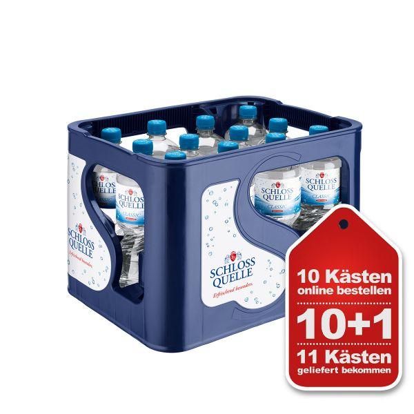 Schloss Quelle Classic 10+1 Aktion PET-C Kiste EINWEG