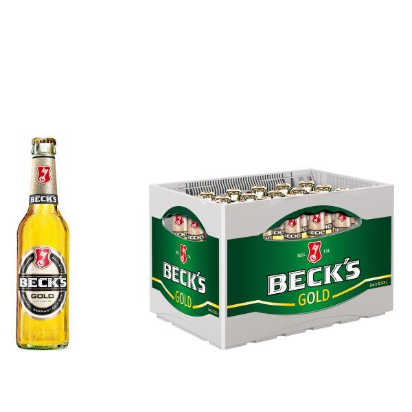 Becks Gold 24 x 0,33l Glas Kiste MEHRWEG