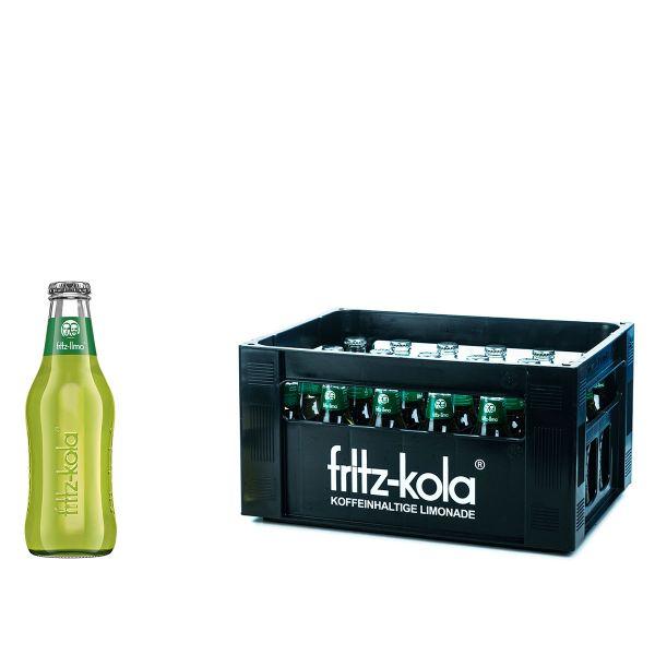 Fritz-Limo Honigmelone 24 x 0,2l Glas Kiste MEHRWEG
