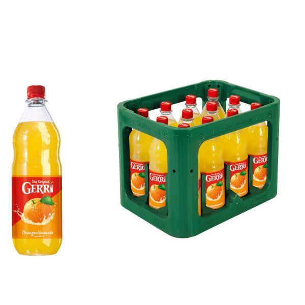 Gerri Orange 12 x 1,0l PET Kiste MEHRWEG