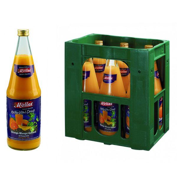 Möller Aktiv-Vital-Drink 6 x 1,0l Glas Kiste MEHRWEG