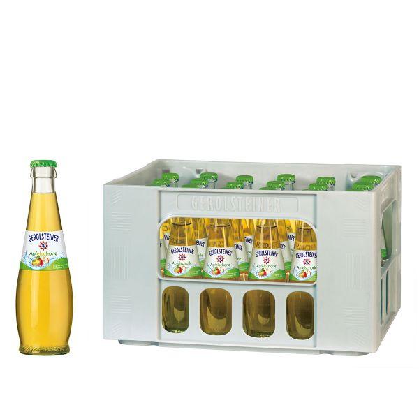 Gerolsteiner Apfelschorle 24 x 0,25l Glas Kiste MEHRWEG