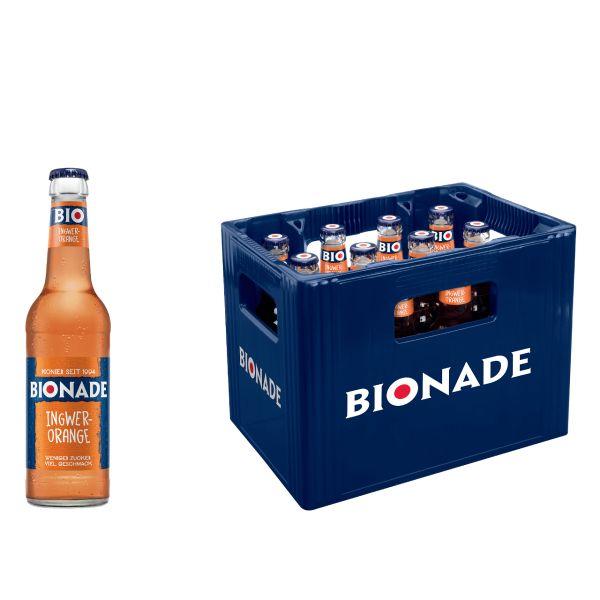 BIONADE Ingwer Orange 12 x 0,33l Glas Kiste MEHRWEG