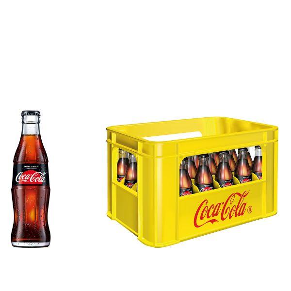 Coca Cola Zero Sugar 24 x 0,2l Glas Kiste MEHRWEG