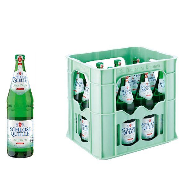 Schloss Quelle Medium 12 x 0,75l Glas Kiste MEHRWEG