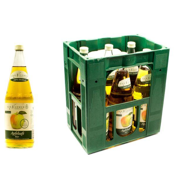 Van Nahmen Apfelsaft Klar Direktsaft 6 x 0,7l Glas Kiste MEHRWEG