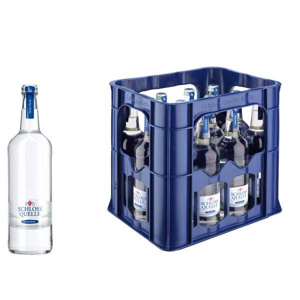 Schloss Quelle Gourmet feine Perle 12 x 0,75l Glas Kiste MEHRWEG