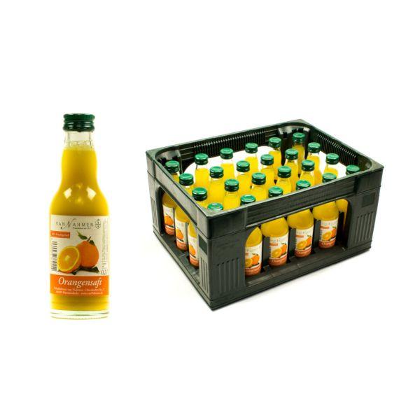 Van Nahmen Orangensaft 24 x 0,2l Glas Kiste MEHRWEG