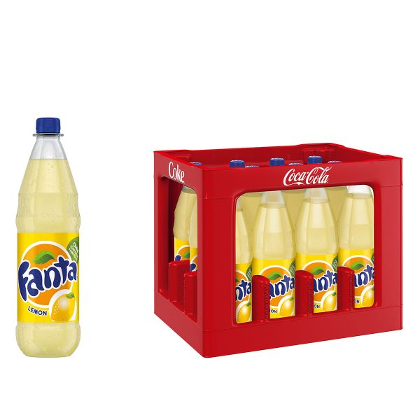 Fanta Lemon 12 x 1,0l PET Kiste MEHRWEG