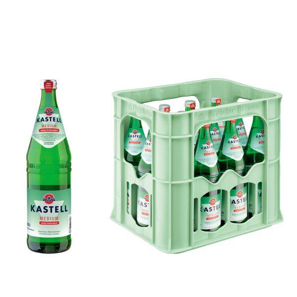 Kastell Medium 12 x 0,7l Glas Kiste MEHRWEG