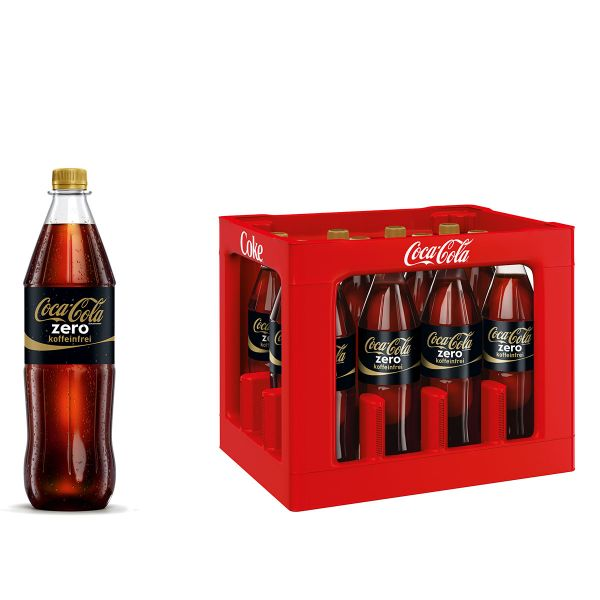 Coca Cola Zero Sugar Koffeinfrei 12 x 1,0l