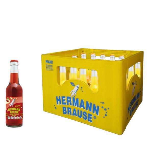 Hermann Brause Apfel-Kirsch Schorle 20 x 0,33l Glas Kiste MEHRWEG