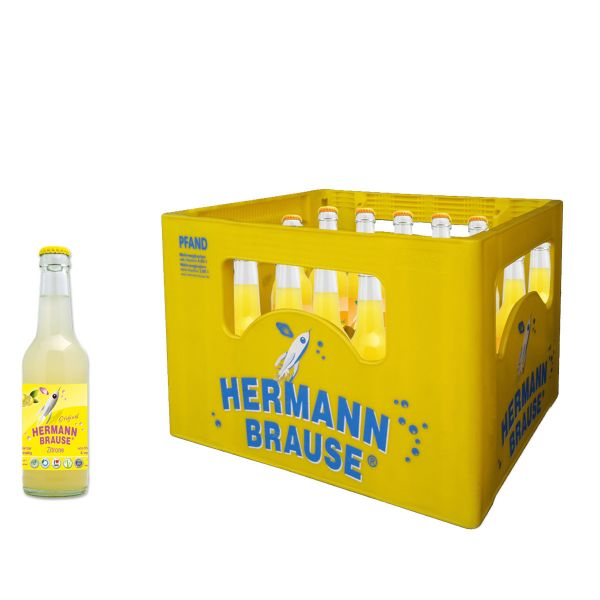 Hermann Brause Limonade Zitrone 20 x 0,33l