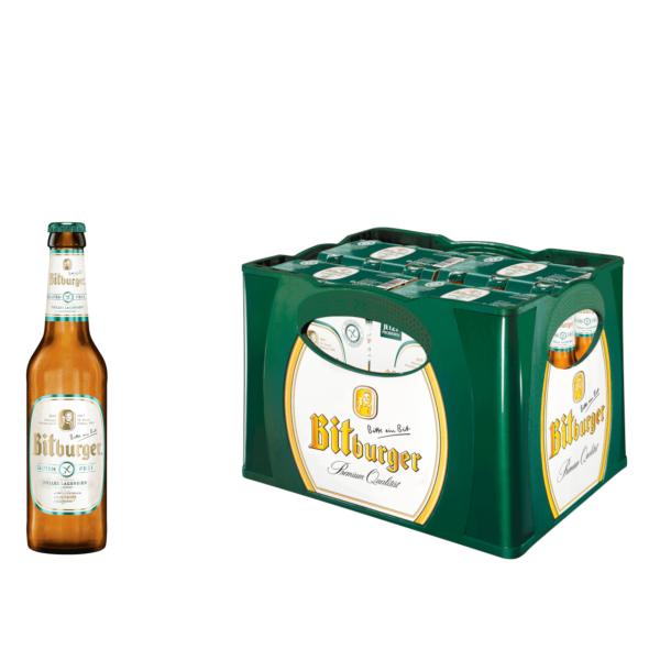 Bitburger Helles Lagerbier - glutenfrei 4 x 6 x 0,33l
