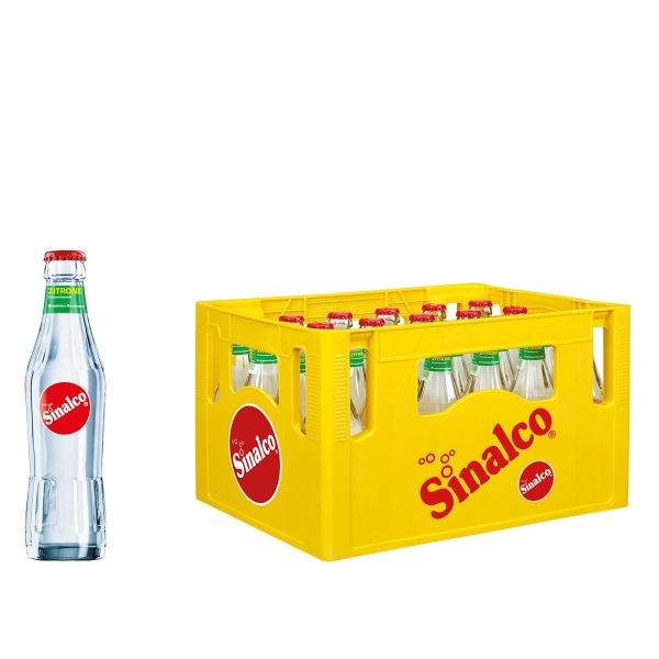 Sinalco Zitrone 24 x 0,33l Glas Kiste MEHRWEG