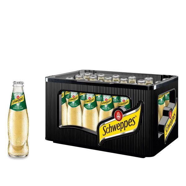 Schweppes Ginger Ale 24 x 0,2l Glas Kiste MEHRWEG