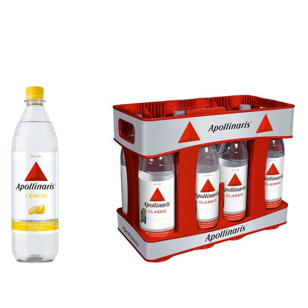 Apollinaris Lemon 10 x 1,0l PET Kiste MEHRWEG