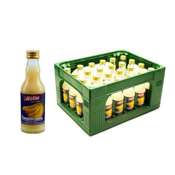 Möller Bananen-Nektar 24 x 0,2l Glas Kiste MEHRWEG