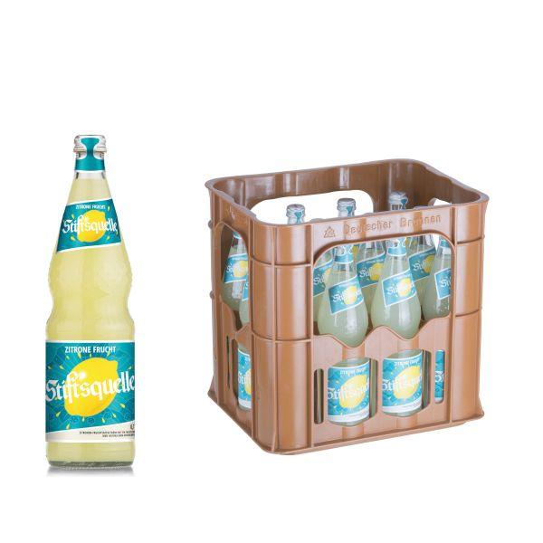 Stiftsquelle Zitrone Frucht 12 x 0,7l Glas Kiste MEHRWEG