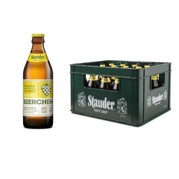 Stauder Bierchen 20 x 0,33l Glas Kiste MEHRWEG
