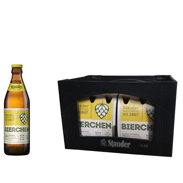 Stauder Bierchen 24 x 0,33l Glas Kiste MEHRWEG