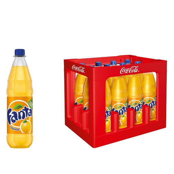 Fanta Orange 12 x 1,0l PET Kiste MEHRWEG