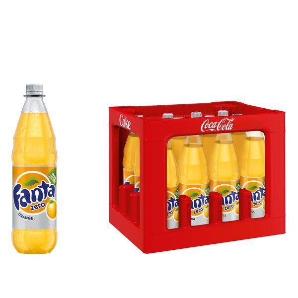 Fanta Zero Sugar Orange 12 x 1,0l PET Kiste MEHRWEG