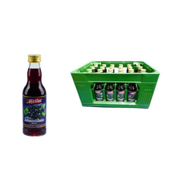 Möller Johannisbeer-Nektar 24 x 0,2l Glas Kiste MEHRWEG