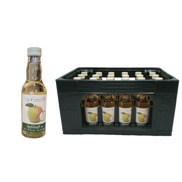 Van Nahmen Apfelsaft Klar Direktsaft 24 x 0,2l Glas Kiste MEHRWEG
