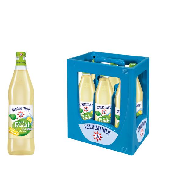 Gerolsteiner und Frucht Apfel - Zitrone 6 x 0,75l