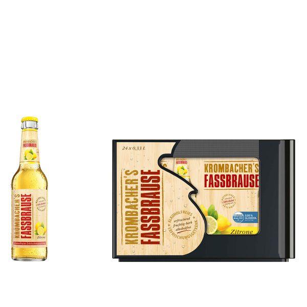 Krombacher Fassbrause Zitrone 24 x 0,33l