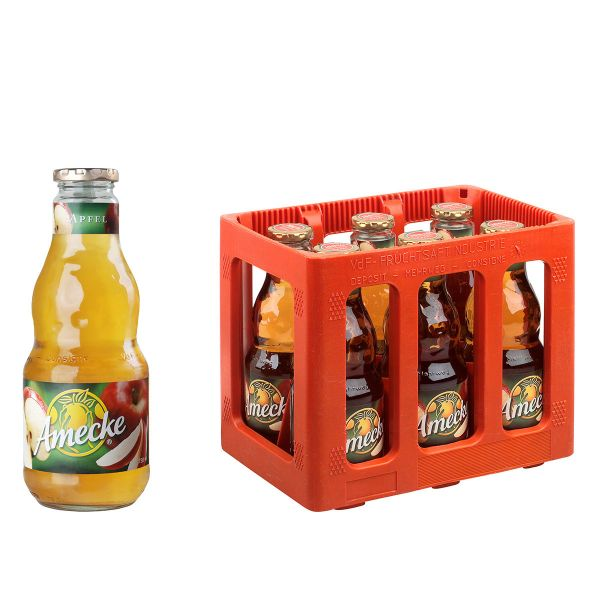 Amecke Apfelsaft klar 6 x 0,7l Glas Kiste MEHRWEG