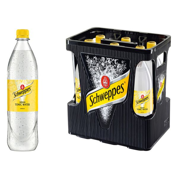 Schweppes Indian Tonic Water 6 x 1,0l