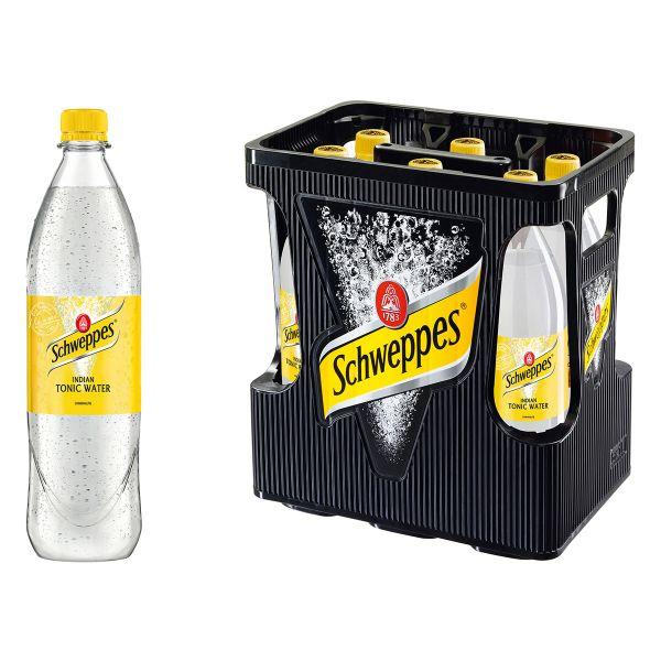 Schweppes Indian Tonic Water 6 x 1,0l PET Kiste MEHRWEG