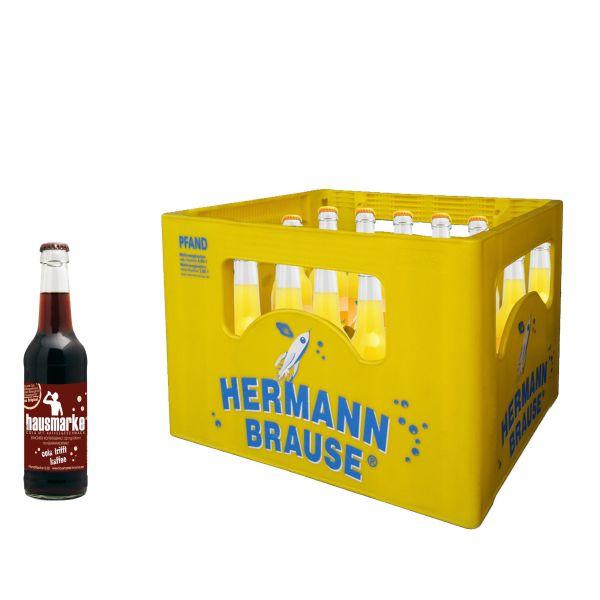 Hermann Kaffee 20 x 0,33l Glas Kiste MEHRWEG