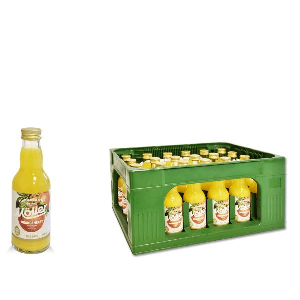 Möller Orangensaft 24 x 0,2l Glas Kiste MEHRWEG
