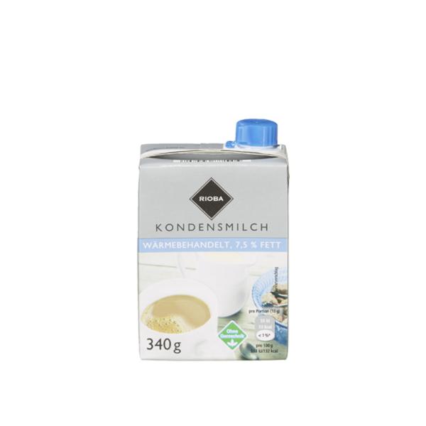 Rioba Kondensmilch 7,5% Fett 16 x 340 g