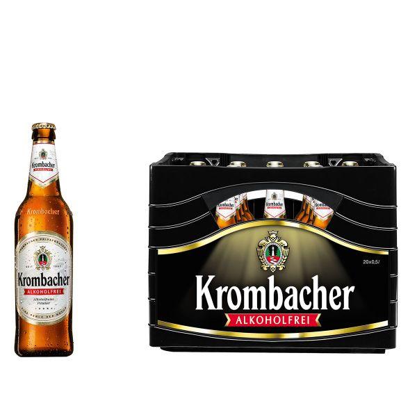Krombacher Alkoholfrei 20 x 0,5l Glas MEHRWEG