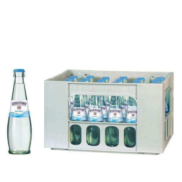 Gerolsteiner Naturell Gourmet 24 x 0,25l Glas Kiste MEHRWEG